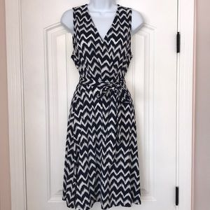 INC International Concepts Ikat Faux Wrap Dress-LG